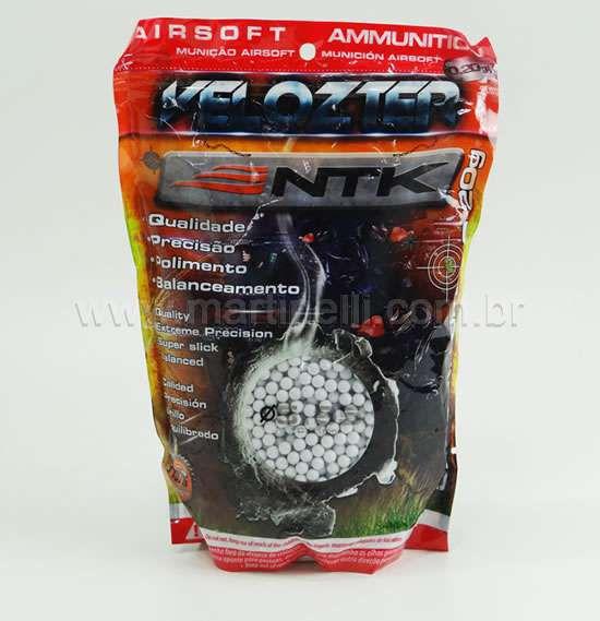 Esferas plastica Airsoft Velozter 0,20 com 5000 un.