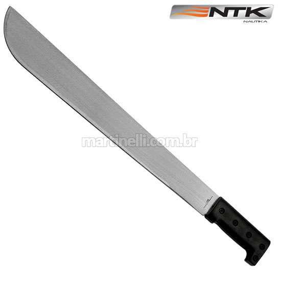 Facão Nautika Matão, lâmina de aço carbono de 45,4cm, com bainha, ideal para abrir trilhas