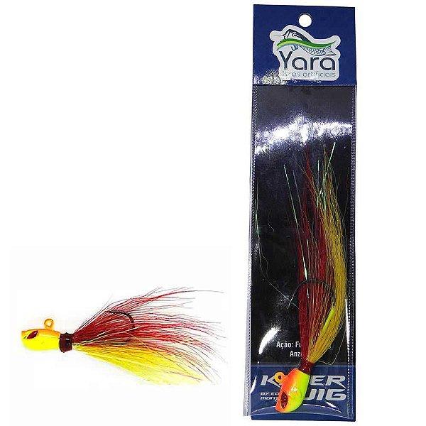 Isca artificial Yara Killer Jig 10g cor: 42 vermelho e amarelo