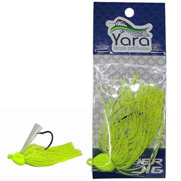Isca artificial Yara Rubber 7g Cor 80 Verde Limao - 2880