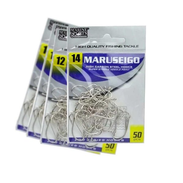 Kit 200 Anzol Marine Sports Maruseigo Nickel-12,14,16 e18