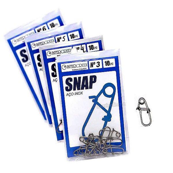 Kit 40 Snap Intergreen aço inox 03 ao 06 c/ 10 cada