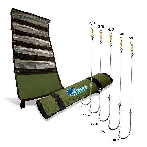 Kit Anzol Encastoa 4330 Flex 2/0+3/0+4/0+5/0+6/0+Porta Anzol