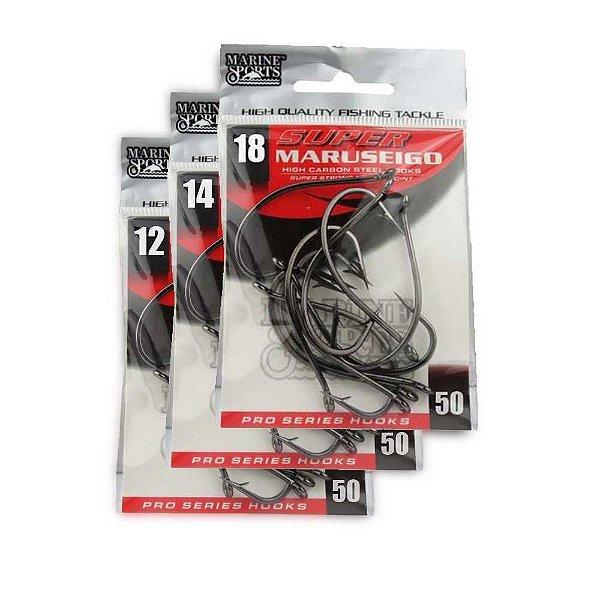 Kit Anzol Marine Sports Super Maruseigo Black n. 12, 14 e 18