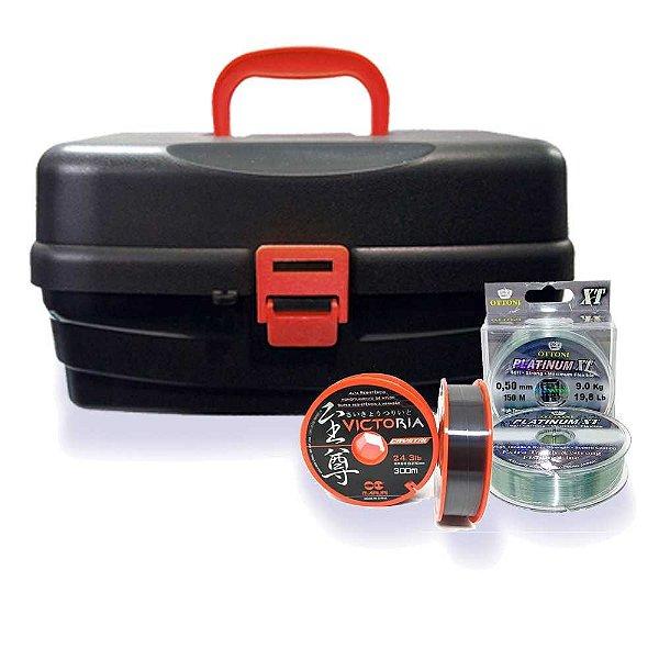 Kit Caixa HI 3 bandejas+Linha Victoria+Linha Platinum XT
