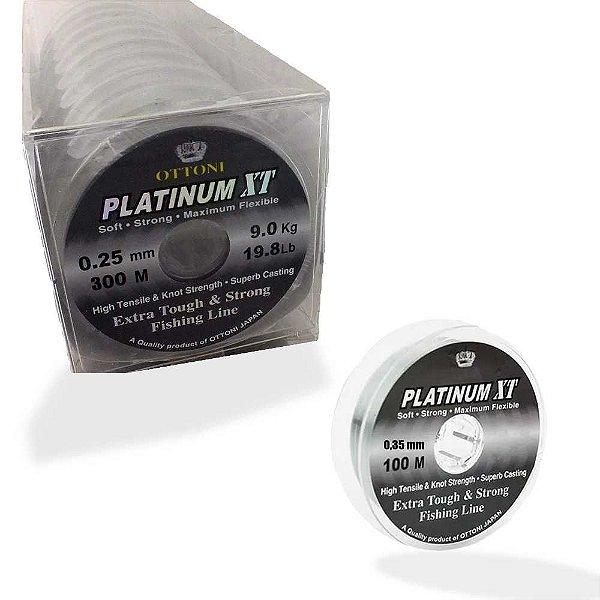 Kit de Linha Monofilamento Platinum XT BOX 0,25mm e 0,35mm