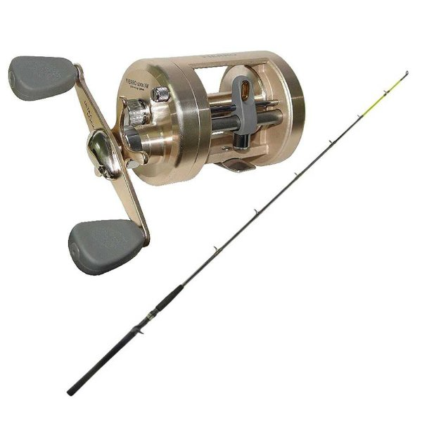 Kit de pesca Carretilha Marine Sports Fierro 6000 XW - 5 Rolamentos,... + Vara Marine Sports Laguna 2 Nova C602H 20-40 lb - (carr...