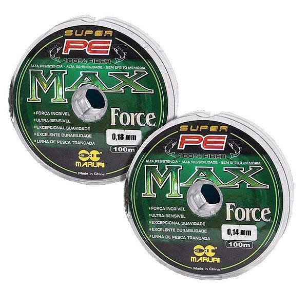 Kit de Pesca: Linha multif Max F 0,14mm 18lb e 0,18mm 24lb