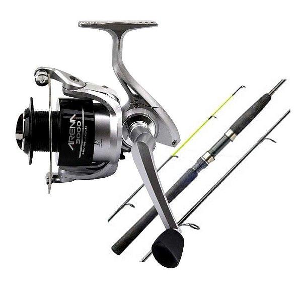 Kit de pesca: Molinete Marine Sports Arena 3000 FT - Fricção Traseira... + Vara Marine Sports Laguna 2 Nova S602MH - 15-30 lb - (m...