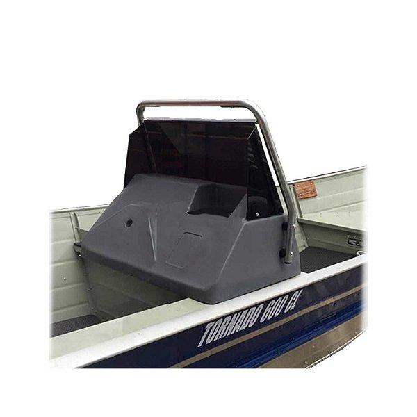 Kit Lancha: Painel de polietileno para direção + Base de alumínio para painel de barco... + Para-brisa em acrílico com protetor de alumínio