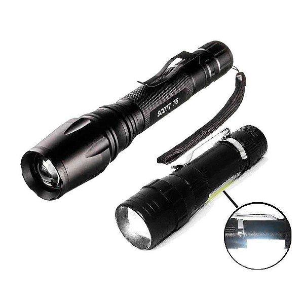 Kit Lanterna Invictus Militar T6 + Lanterna mini USB 9357