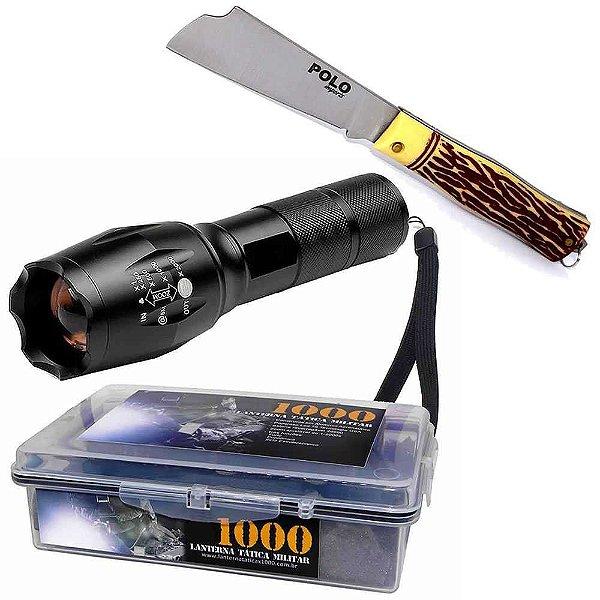 Kit Lanterna Tatica + Canivete Xingu Polo 3153