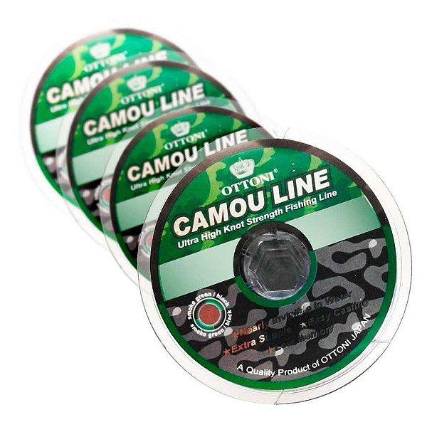 Kit Linha Monofilame Camou Line 0,25 + 0,30 + 0,50 + 0,60 mm