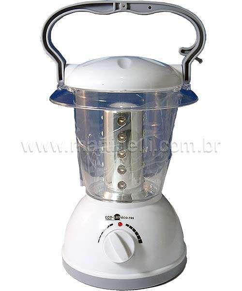 Lampião recarregável LED ECO-785 - Eco-Lux