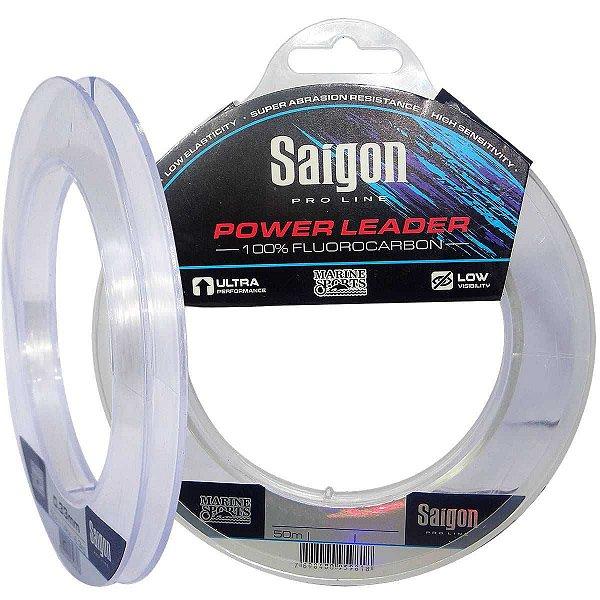 Linha Fluorcarbono Marine Sports Saigon Leader 50m 0,49mm Clear 29 lb