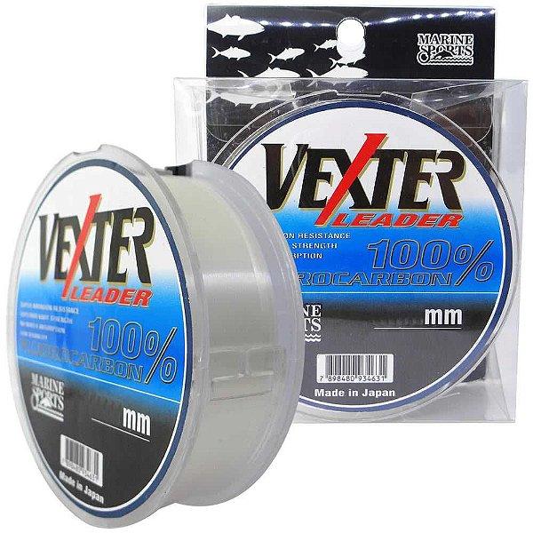 Linha Fluorcarbono Marine Sports Vexter Leader 0.70mm 55lb/25kg