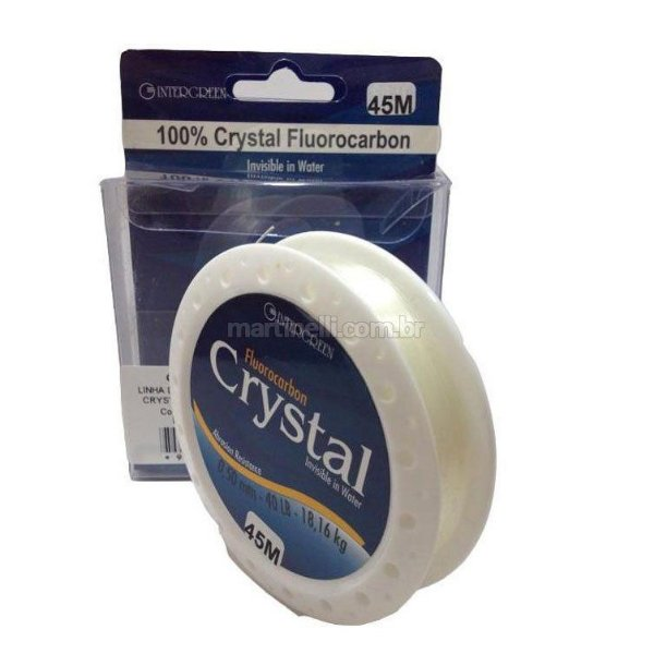 Linha Intergreen Crystal Fluorocarbon 0,50mm 40Lbs 45m
