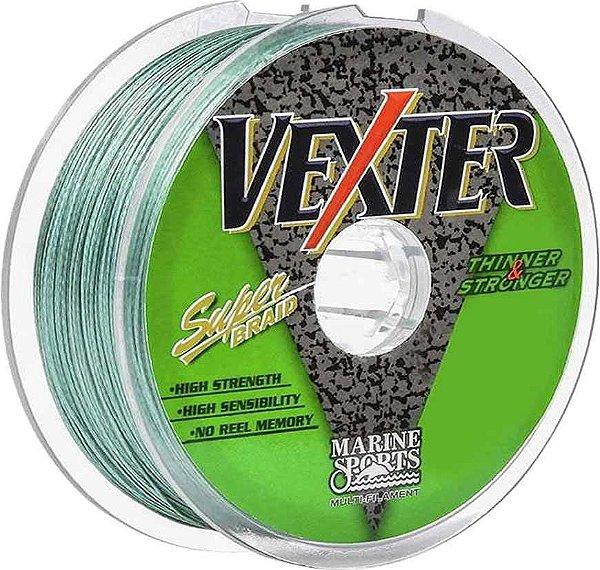 Linha Marine Sports Vexter Super Braid Multifilamento 0,40mm 60LB - 300m Cor: Verde