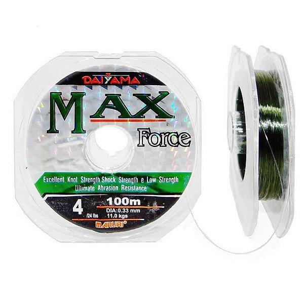 Linha Maruri Max Force Nylon 0,37mm - 100m