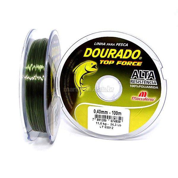 Linha Mazzaferro Dourado Top Force 0.30mm 6,7kg 100m - verde
