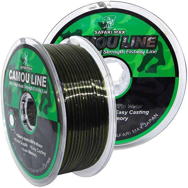 Linha Monofilamento Camou Line 0,45mm 55Lbs 25Kg 200m