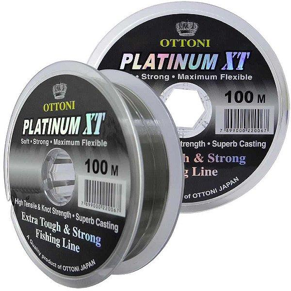 Linha Monofilamento Platinum XT - 0,45mm 25kg - 100m