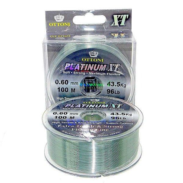 Linha Monofilamento Platinum XT BOX 0,60mm 43,48kg 100m