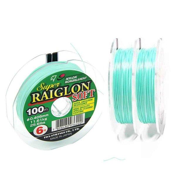 Linha monofilamento Super Raiglon Soft 0,37mm - 22,1 lbs - 100 m