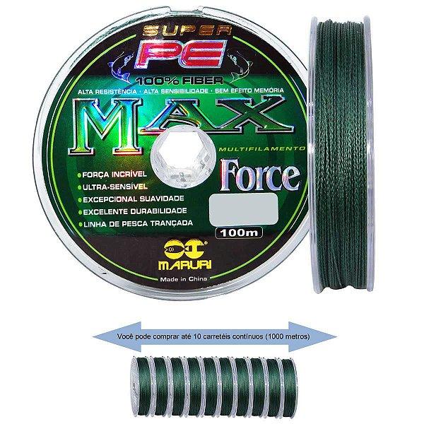 Linha multifilamento Maruri Max Force 0,20mm 25lb teste 11,4kg 100m