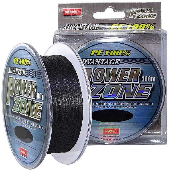 Linha multifilamento Power Zone 47lb 0,27mm 300m cor cinza