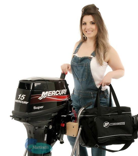 Motor de Popa Mercury 15 Super Desconto p/ Produtor Rural e PJ Entrada + 12x de R$ 455,50 no cartão