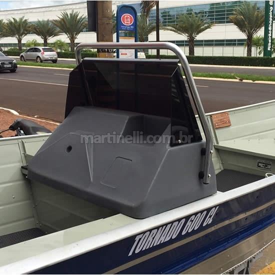 Para-brisa em acrílico para painel barcos - sem protetor de alumínio