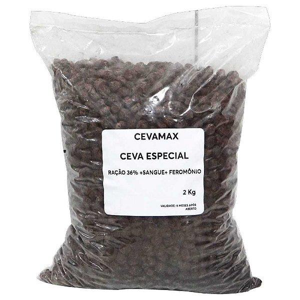 Ração Cevamax 36% Sangue e Feromônio 2 Kg p/ Boia Cevadeira