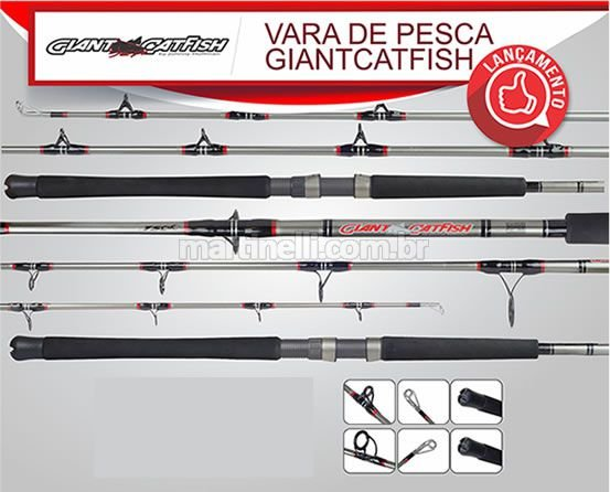 Vara Marine Sports Evolution Nova Giant Cathfish GC2 C661XH - 100-200lb - (1,98m) (carretilha) (inteiriça)