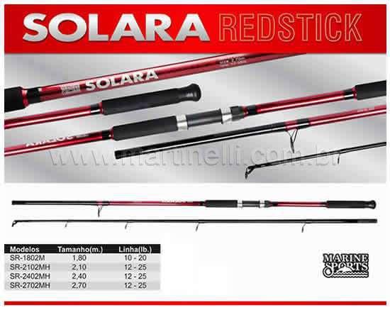 Vara Marine Sports Solara Redstick SR-1802M - 10-20 lb - (1,80m) (molinete) (2 partes)