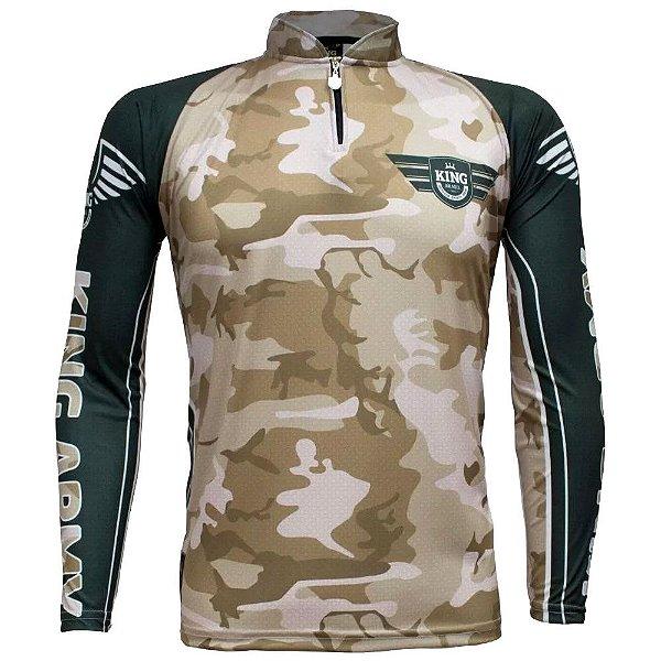 Camiseta de Pesca Sublimada Army 301