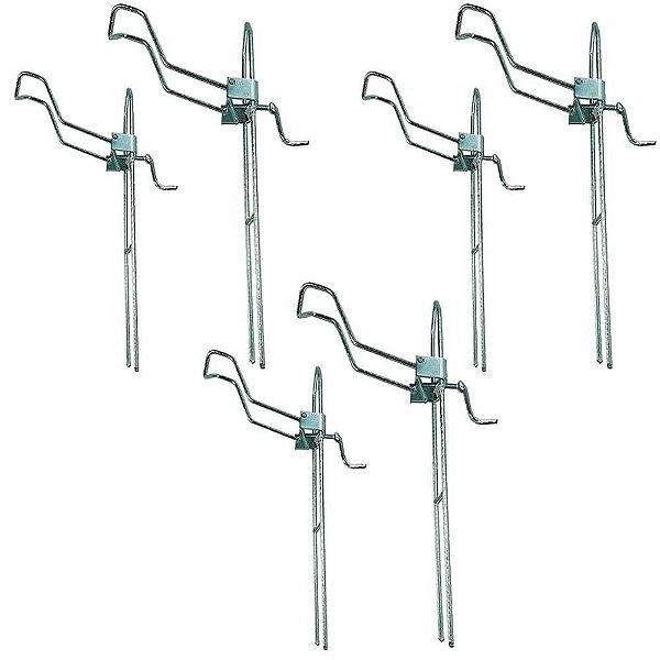 6X Suporte para vara barranco com regulagem tamanho G