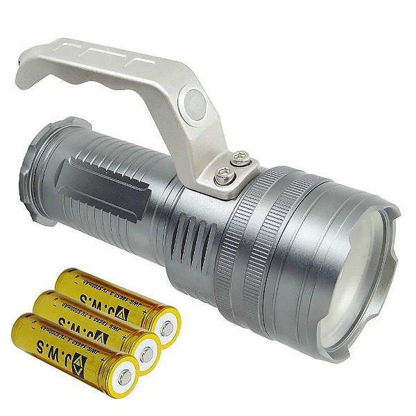 Lanterna Holofote Ws-568 Led Cree T6 c/ 3 baterias 18650