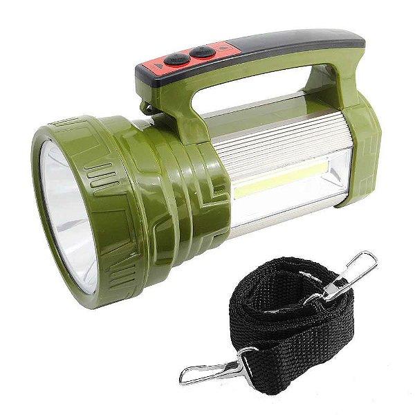 Lanterna Led T6 Ws-573 Placa Solar+ Luminária + Power Bank