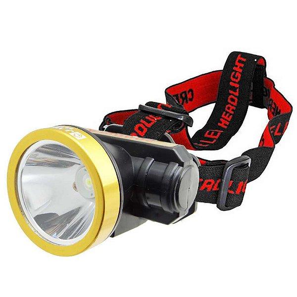 Lanterna De Cabeça Led Recarregável Bateria Interna WS-135