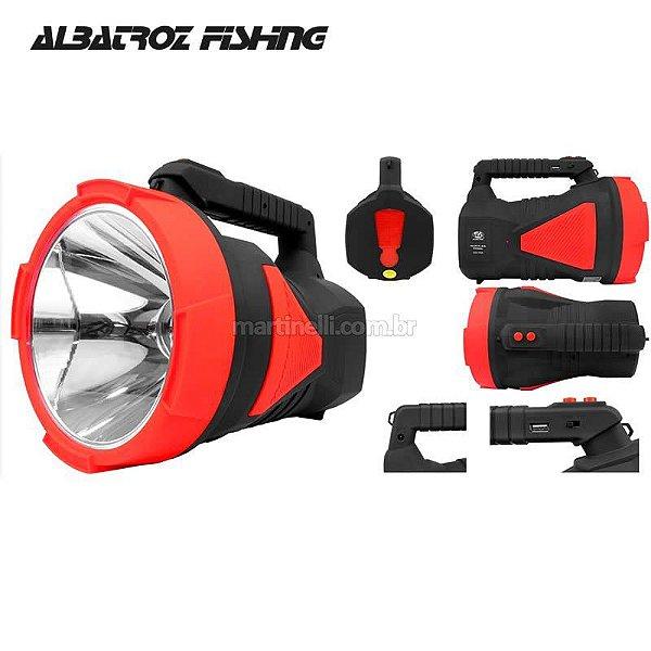 Lanterna/ Refletor Albatroz LED-7055 Super Led 10w com bateria Recarregável - Duração até 18h