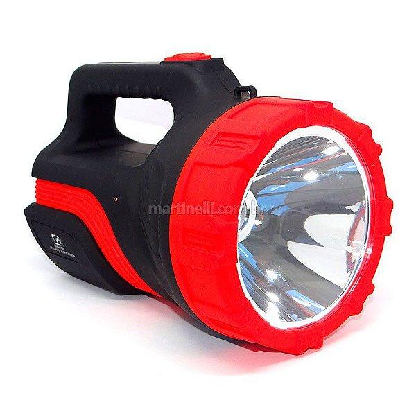 Lanterna Holofote Albatroz LED-7077 - Super Led de alta potência - com bateria recarregável, duração até 8h