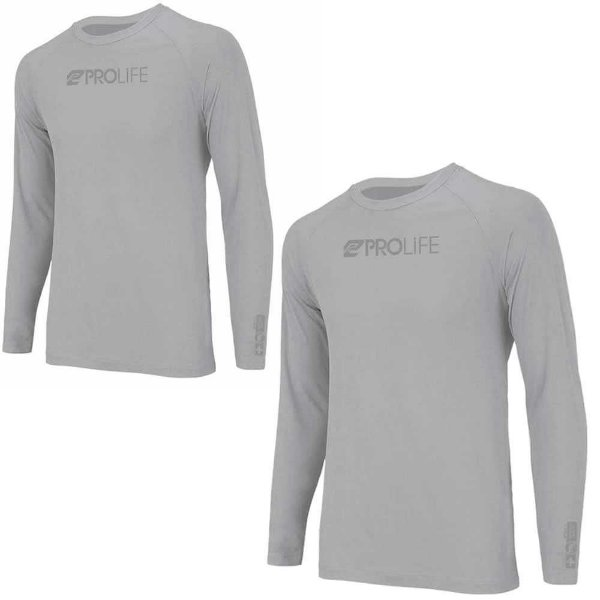 2 Camiseta Prolife Repelente Insetos Masculina Cinza Tam GG