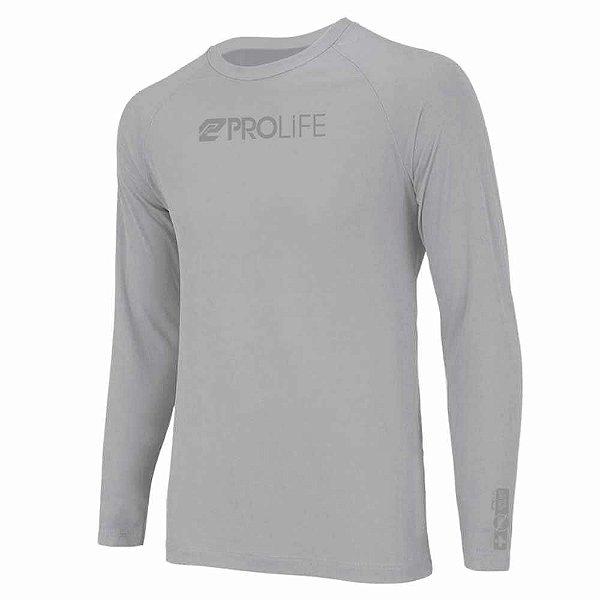 Camiseta Prolife Repelente Insetos Masculina Cinza - Tam. EX