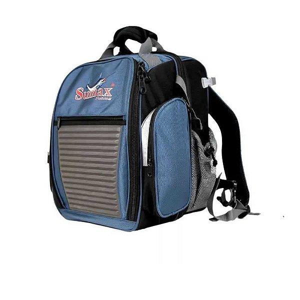 Bolsa Sumax Sm-1203bl c/ 3 estojos - Cor Azul