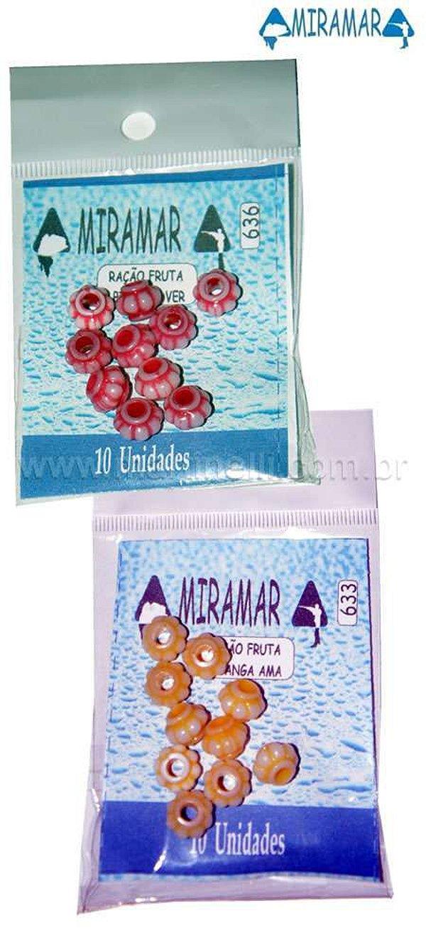 Ração plástica Pitanga Miramar - 10 un. pitanga vermelha 636