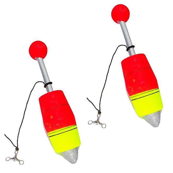 2 Boia de pesca Aguape Torpedo N3 35g - Ref. 538