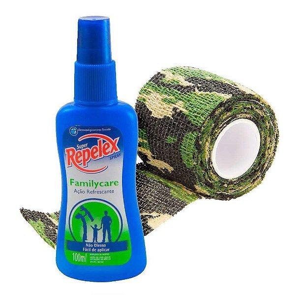 Repelente Repelex Family Care Spray 100 ml + Fita Adesi Tape
