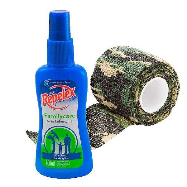Repelente Repelex Family Care Spray 100 ml + Fita Camuf Tape