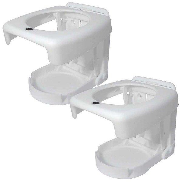 2 Porta copos dobrável Branco, ideal para sua embarcação